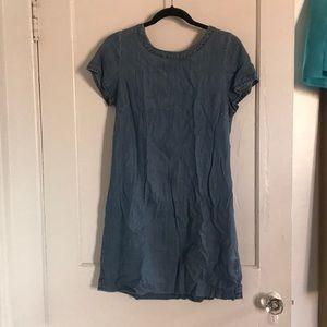 Chambray Swing Mini Dress
